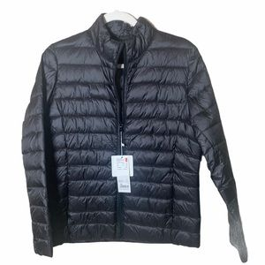 Packable Puffer Jacket w Pouch Black X-Large